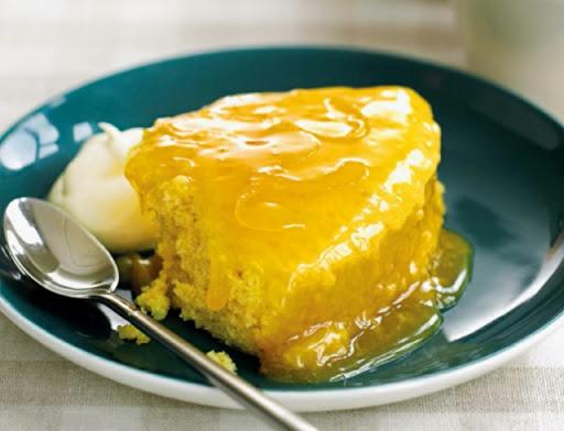 Fastest-ever lemon pudding