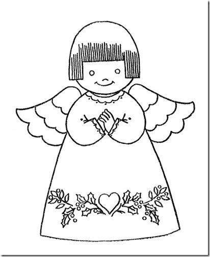 angeles navidad colorear (3)