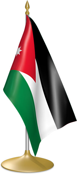 Jordanian table flags - desk flags