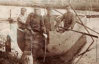German soldiers during fishing