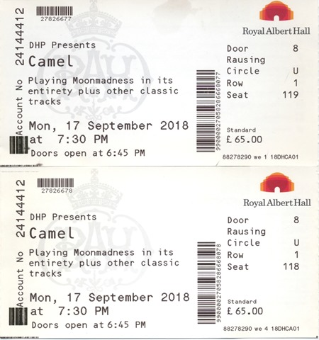 Camel - 2018 Tickets