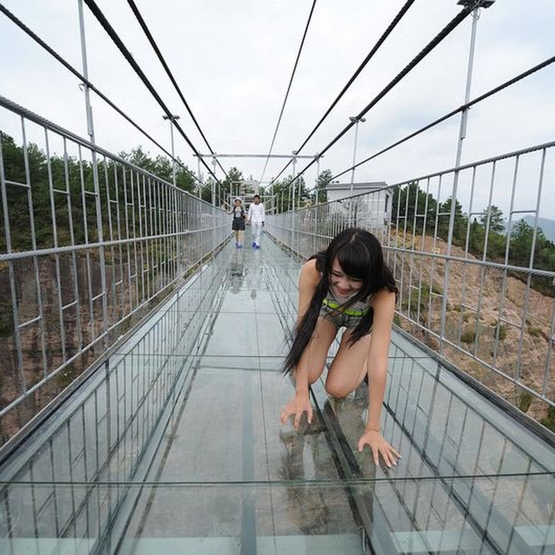 China Opens Longest Glass-Bottomed Suspension Bridge