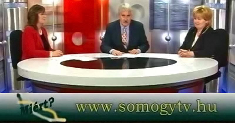 Táskai Erzsébet és Csikvárné Takács Anikó a Somogy TV-ben