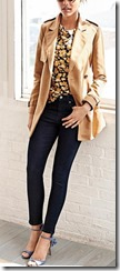 Banana Republic bi stretch jeans and canvas trench