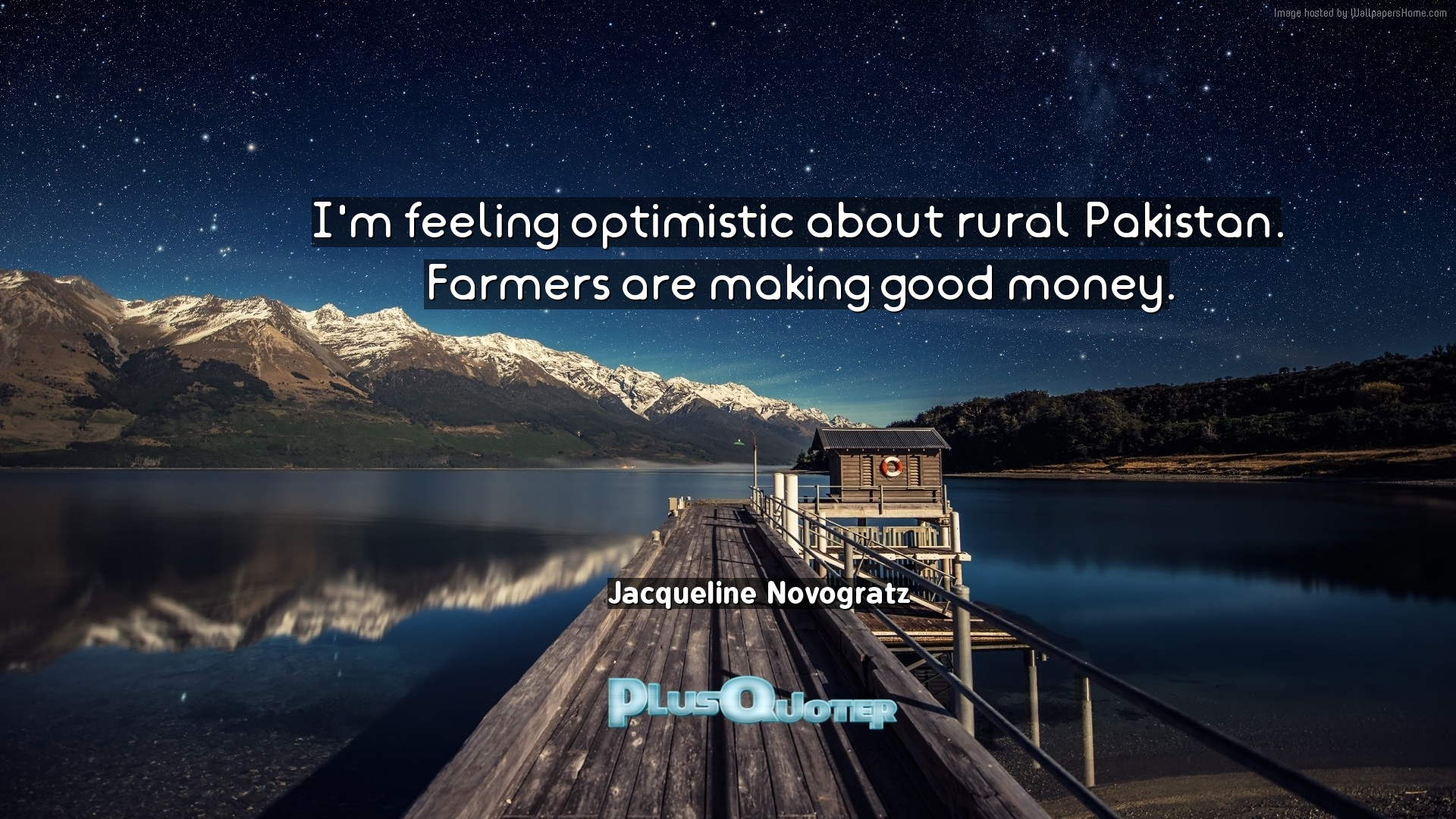 I'm feeling optimistic about rural Pakistan. Farmers are making ...