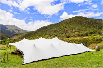 Photo: Freeform tent erected for a wedding.
