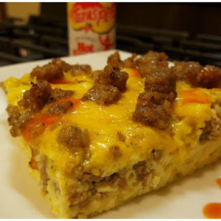 Sausage Egg and Cheese Breakfast Casserole.