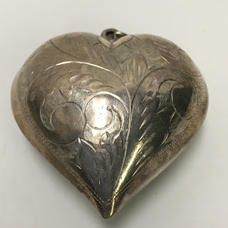 Sterling Silver Large Heart Pendant
