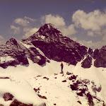 1981.06.29 Pyrenees, Derrick Davies Pic d Arriel behind.jpg