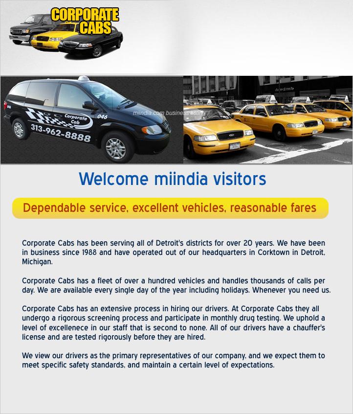 Corporate Cab Services in Michigan detroit