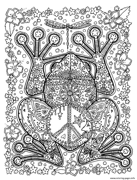 Print Adult Animals Big Frog Coloring Pages