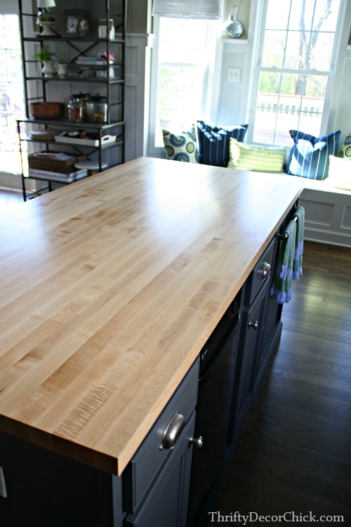 butcher block island countertop