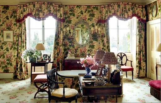 this is a colefax u0026 fowler fabric photograph from the new british house u0026 garden