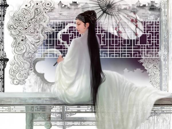 Samurai Girl In White, Magic Samurai Beauties