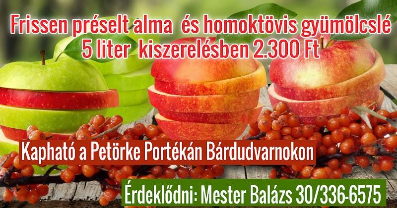 Homoktövis és alma friss gyümölcslé 2015