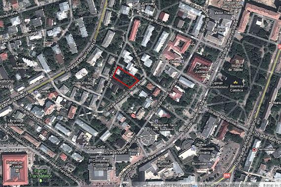 Localizarea vilei Morosan pe Google Maps