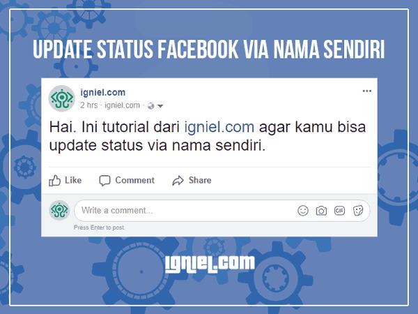 Kali ini blog  akan membagikan tool gratis yang sanggup  Tool Gratis: Update Status Facebook Via Nama Sendiri