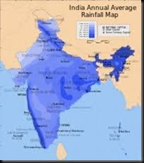 Indian rainfall map