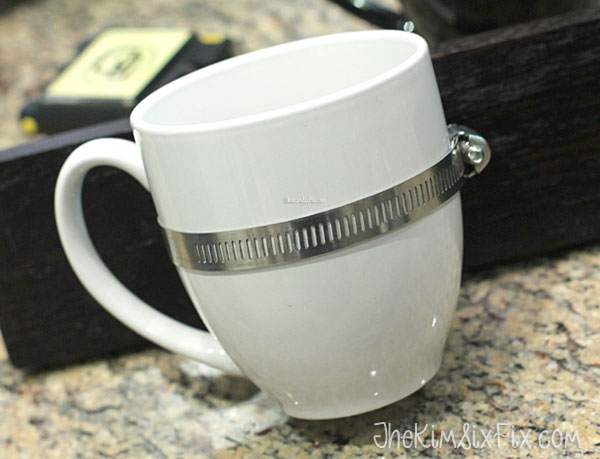 Pipe clamp coffee cup hanger