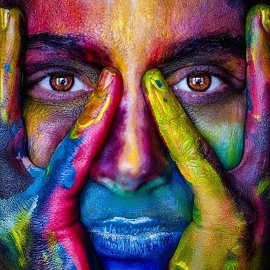 Woman Rainbow Color Model Lips Mejk Person Girl