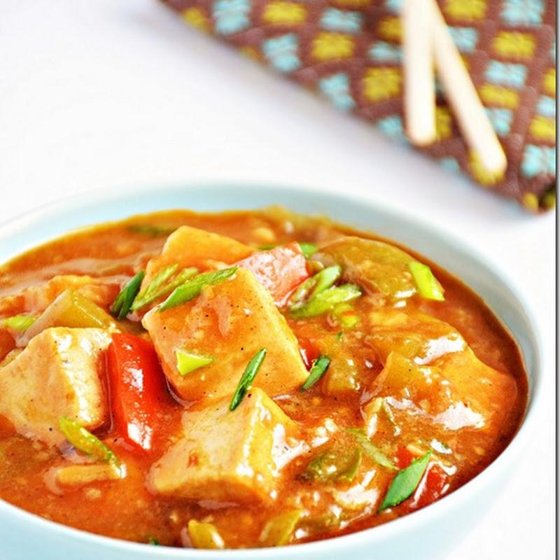 Chilli tofu gravy / Chilli tofu / Tofu manchurian gravy