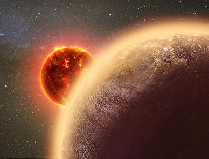 exoplaneta GJ 1132 b cirncunda sua estrela