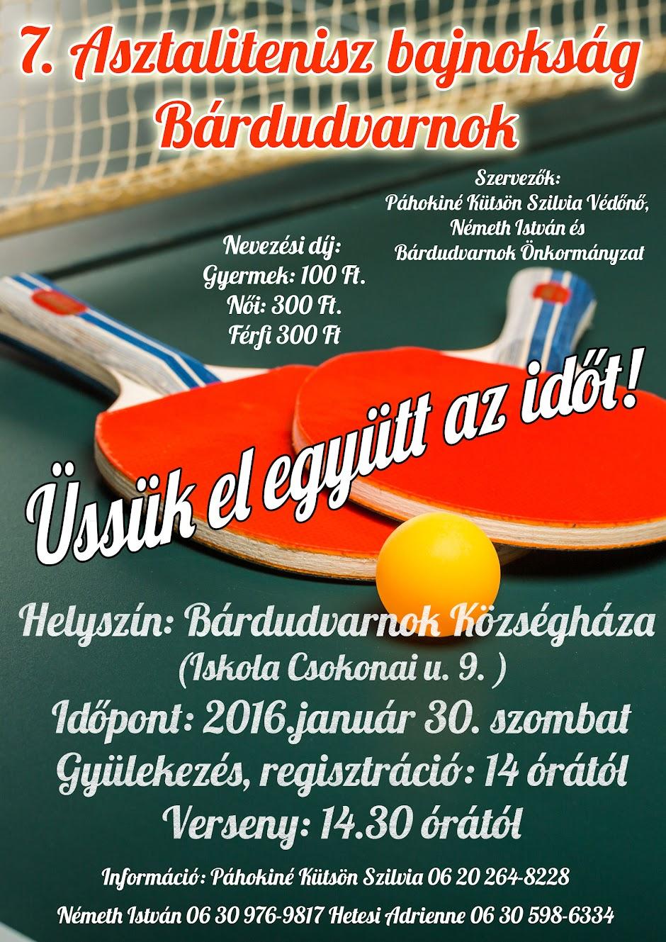 7. Asztalitenisz bajnokság Bárdudvarnok 2016