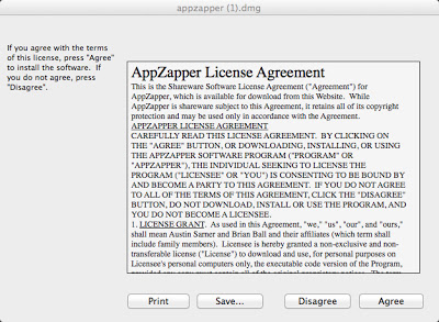 AppZapper Agree License