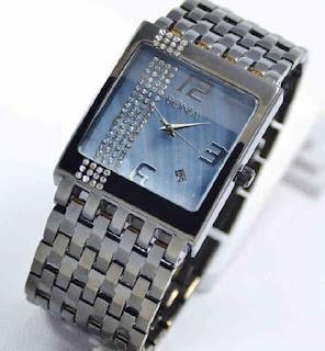 jam tangan Bonia tikar date full black