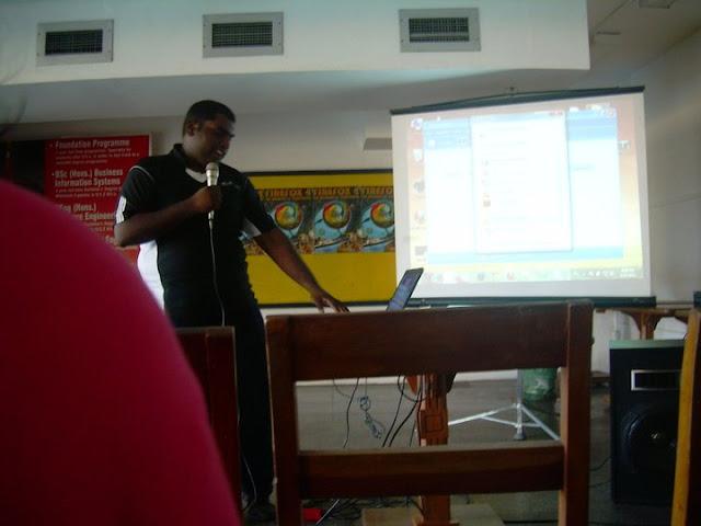 Mr Thejo Presenting
