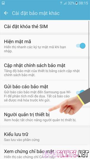 gỡ bỏ Screen Off and Lock trên Samsung Galaxy J7 Prime