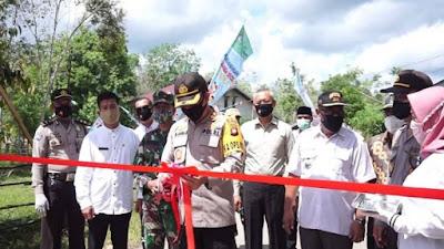 """Kapolres Sekadau Launching """"Kampung Tangguh"""" Desa Tanjung"""
