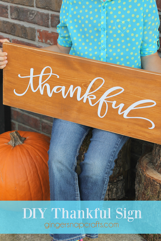 DIY Thankful Sign at GingerSnapCrafts.com
