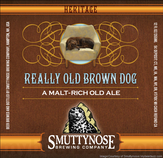 Smuttynose Really Old Brown Dog Coming To Heritage Beers