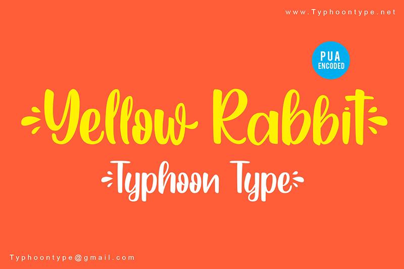Yellow Rabbit Font Free Download