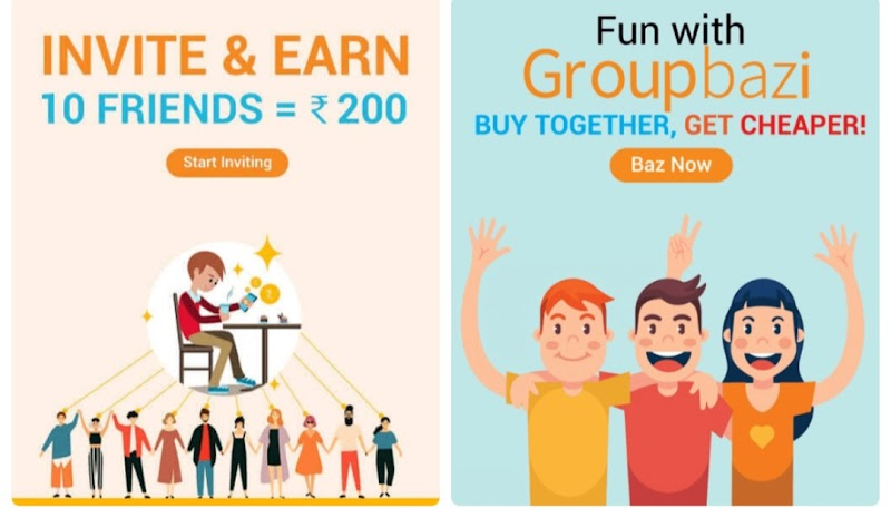 (Stopped) GroupBaz App - Signup & Get Rs.100 Discount Voucher on Shopping + Rs.20 Paytm Cash Per Refer