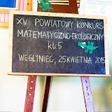 XV Powiatowy Konkurs Matematyczno - Ekologiczny