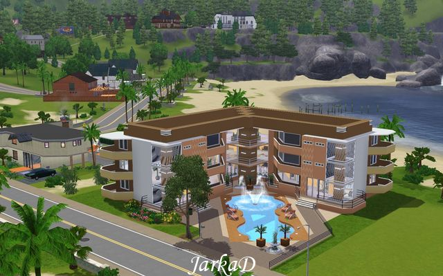My sims 3 blog apartment building 6 by jarkad for Apartment design sims 3