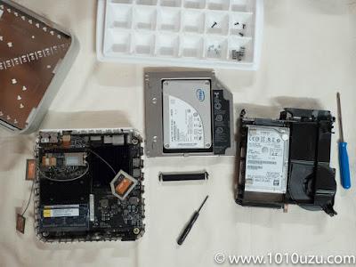 SSDを取り外すのにかなり分解した