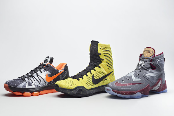 Nike Basketballs Opening Night Pack for KD Kobe and LeBron