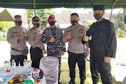 Brimob Polda Sumut Ikuti Donor Darah di Mako Yonif 8 Marinir