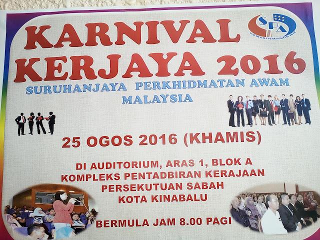 Karnival kerjaya suruhanjaya perkhidmatan awam Sabah 2016