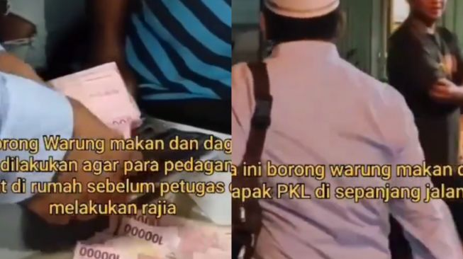 Selamatkan Pedagang dari Razia PPKM, Pria Ini Borong Dagangan PKL Sepanjang Jalan