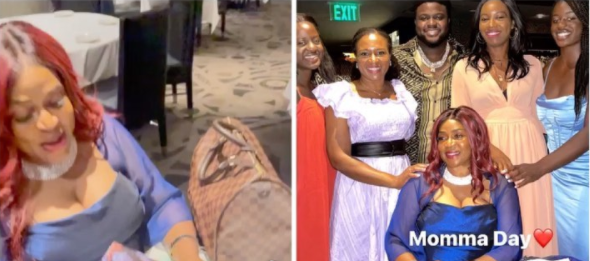 I wouldn't be the man I am today without your guidance - Davido's brother, Adewale Adeleke says he gifts his mother a Rolex on her birthday (video)