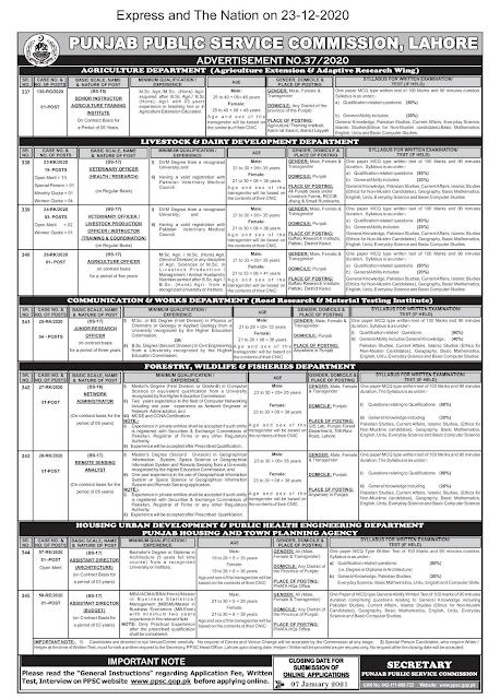 PPSC Jobs 2021 Apply Online www.ppsc.gop.pk