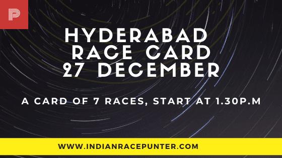 Hyderabad Race Card 27 December