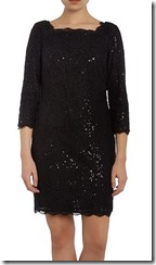 Adriana Papell Lace Sequin Shift Dress