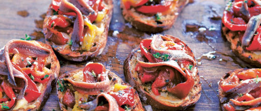 Bell Pepper and Anchovy Salad