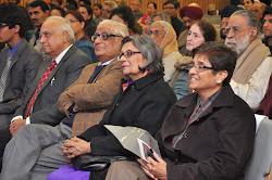From right: Mr Hari Jaisingh, Mr H K Dua, Mrs Aditi Dua and Dr Kiran Bedi