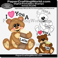 bear love u a latte ppr dsb-200